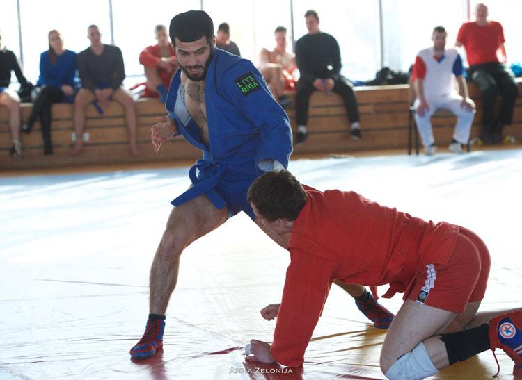 Чемпионат Латвии по самбо прошел в Риге